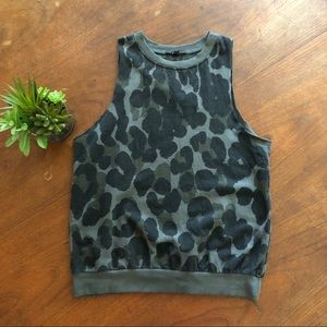UO Truly Madly Deeply Leopard Muscle Tee